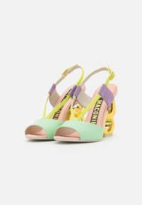 Kat Maconie - HALLE - Sandaler med høye hæler - spearmint/crystal pink - 2