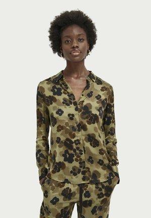 Button-down blouse - combo h