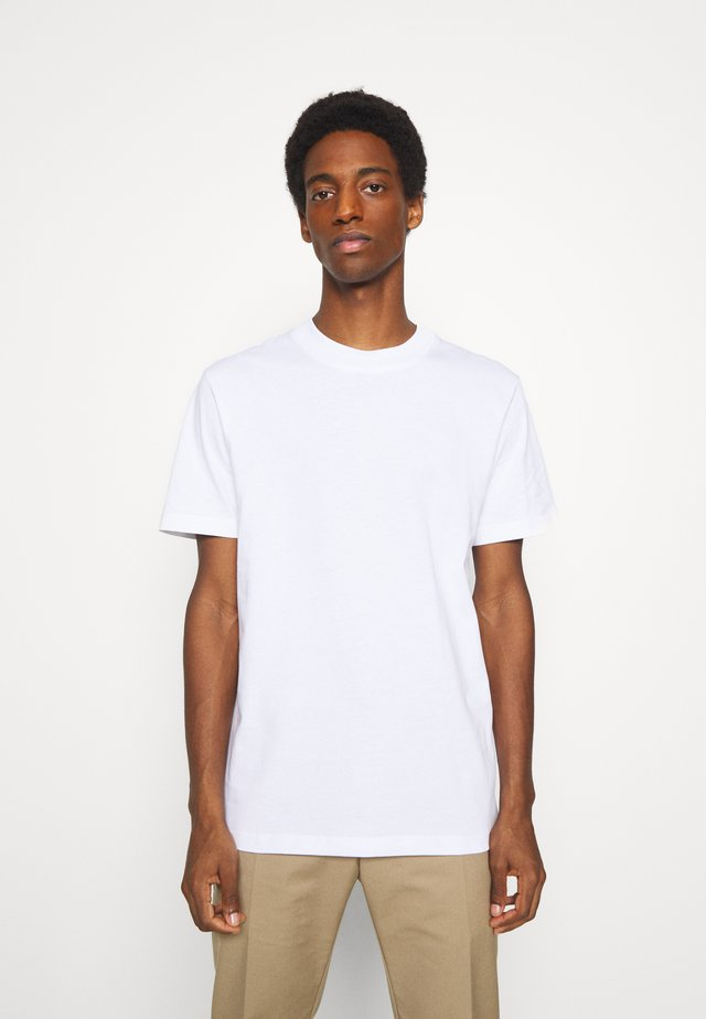 SLHRELAXCOLMAN O NECK TEE - T-shirt - bas - bright white