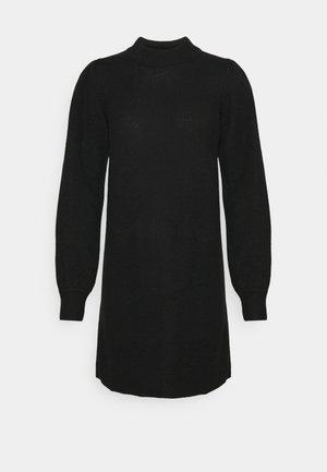 HIGH NECK KNT NOOS - Shift dress - black