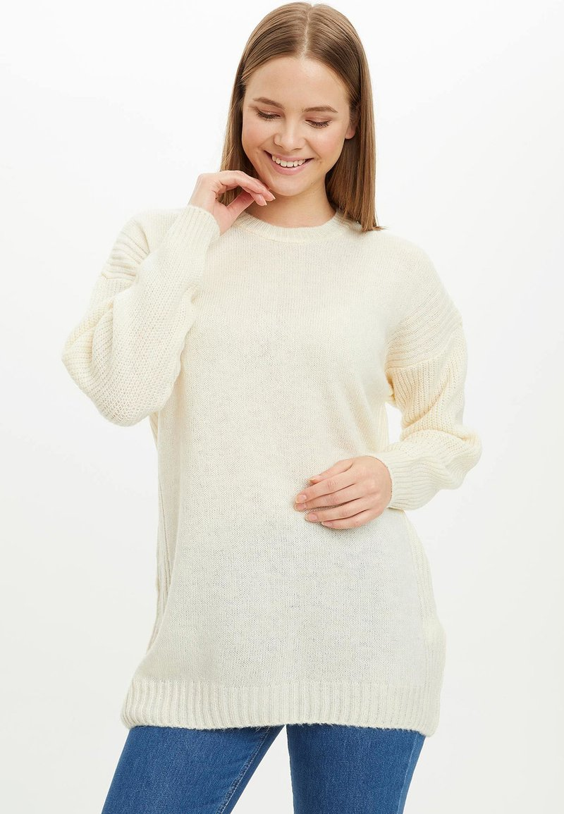 DeFacto - TUNIC - Long sleeved top - beige