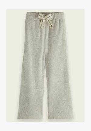 TERRY WIDE-LEG  - Trousers - grey melange