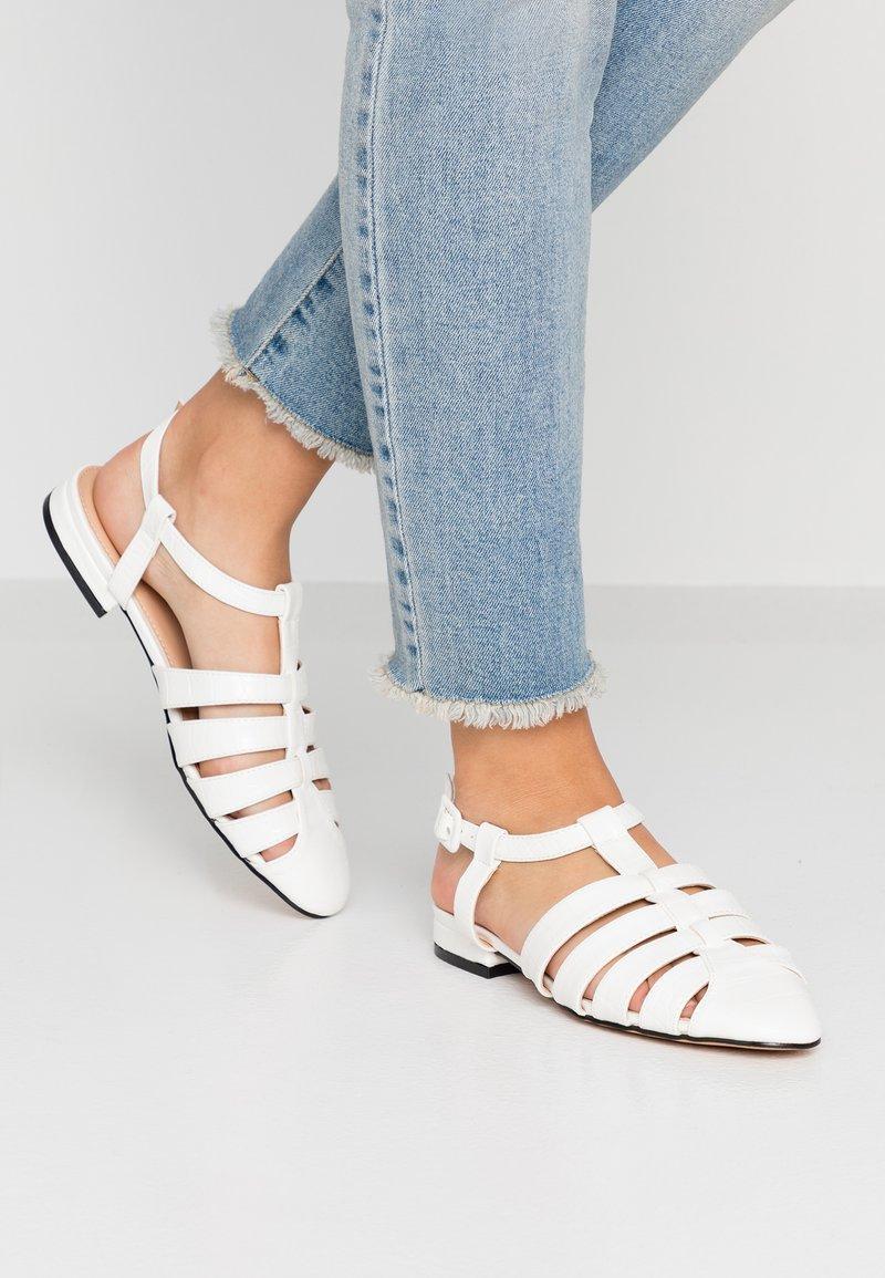 Topshop - OLIVE OPEN SHOE - Sandals - white
