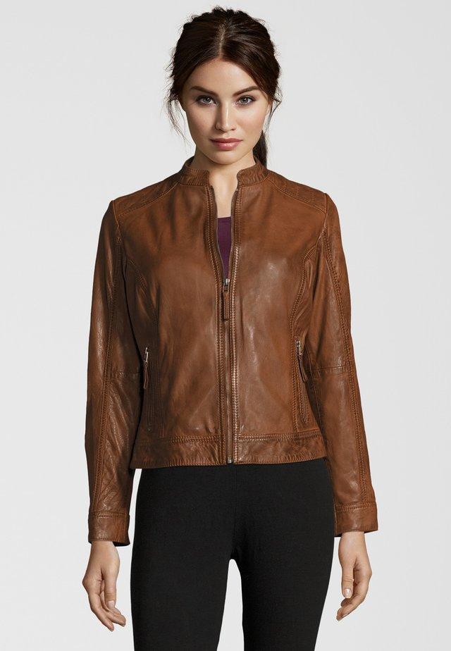 FEMAN - Leather jacket - cognac