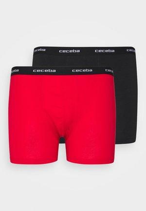2 PACK - Boxerky - black/red
