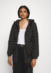 New Look - LIZZIE LIGHTWEIGHT PUFFER - Lett jakke - black - 0