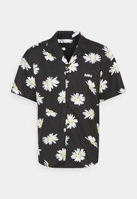 Mennace - DAISY PRINT REVERE SHIRT - Shirt - black - 4