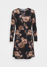 ONLY - ONLELCOS EMMA ELASTIC DRESS - Pletené šaty - black - 4
