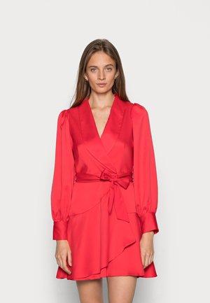 CLOSET LONDON WRAP TIE WAIST DRESS - Cocktail dress / Party dress - red