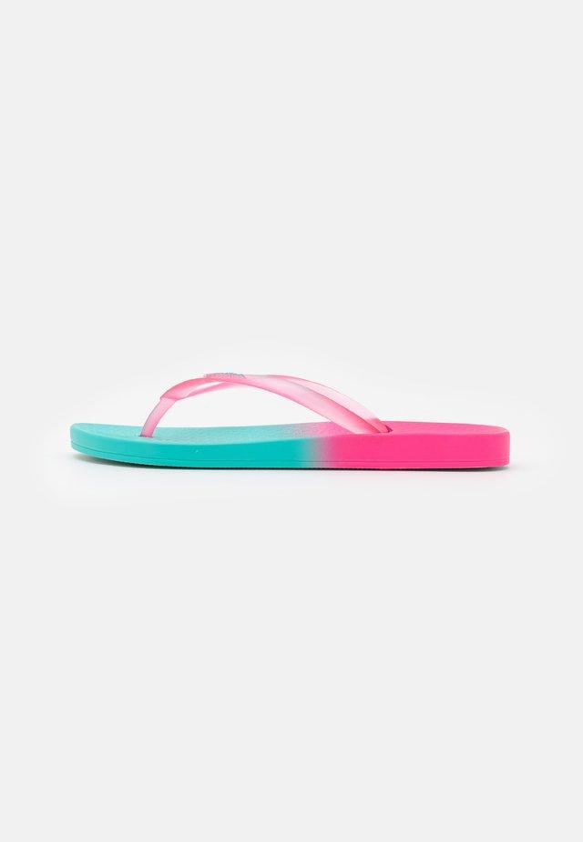 COLORFUL - Infradito da bagno - blue/neon pink