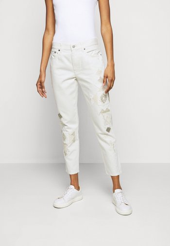 DANVERS  - Jeans a sigaretta - beaded ivory