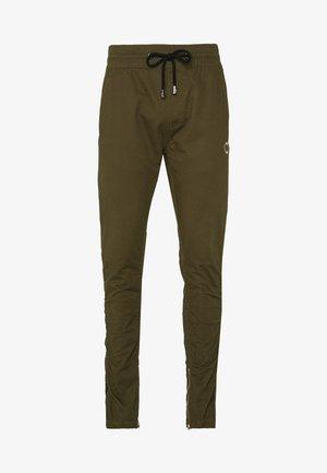 RUCHED LEG TROUSERS - Kalhoty - khaki