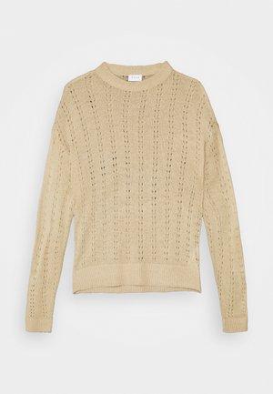 VIDAISY - Stickad tröja - natural melange