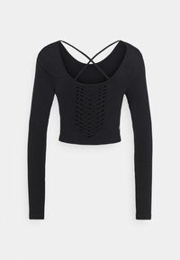 Cotton On Body - LIFESTYLE SEAMLESS OPEN BACK LONG SLEEVE  - Pitkähihainen paita - black - 7
