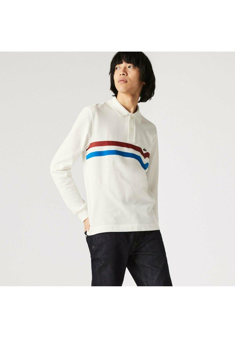 Lacoste - Polo shirt - blanc/rouge/bleu