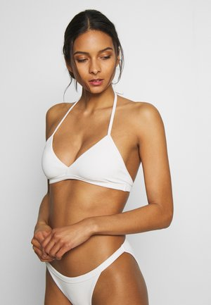 FARAWAY RIBBED SWIM TOP - Bikiniöverdel - white