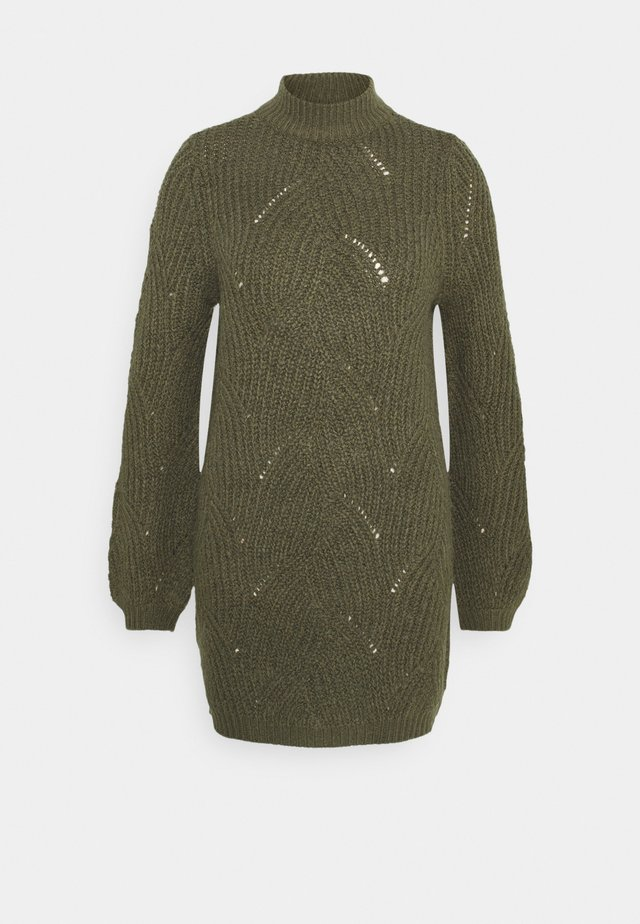 NMEDEN HIGH NECK DRESS  - Korte jurk - kalamata
