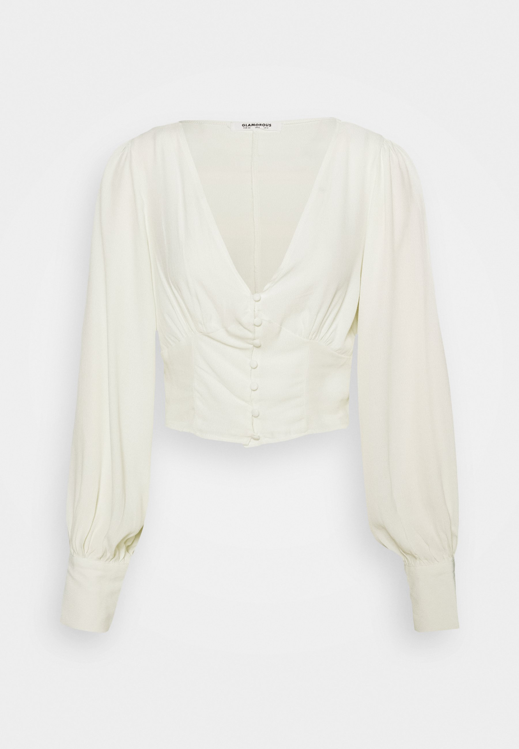 Women V NECK WITH BUTTON DETAIL - Long sleeved top