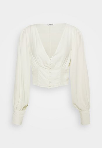 V NECK WITH BUTTON DETAIL