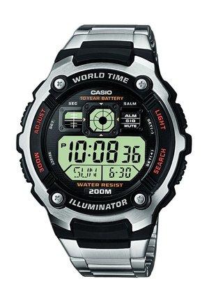 Digital watch - zilverkleurig, zwart