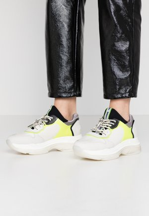 BAISLEY - Trainers - offwhite/neon yellow/black