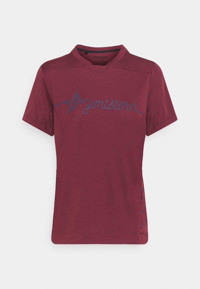 Zimtstern - ECOFLOWZ WOMENS - Print T-shirt - windsor wine/french navy