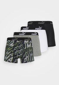 Puma - MEN PROMO BOXER 4 PACK - Culotte - grey/black - 4