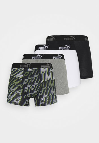 MEN PROMO BOXER 4 PACK - Culotte - grey/black