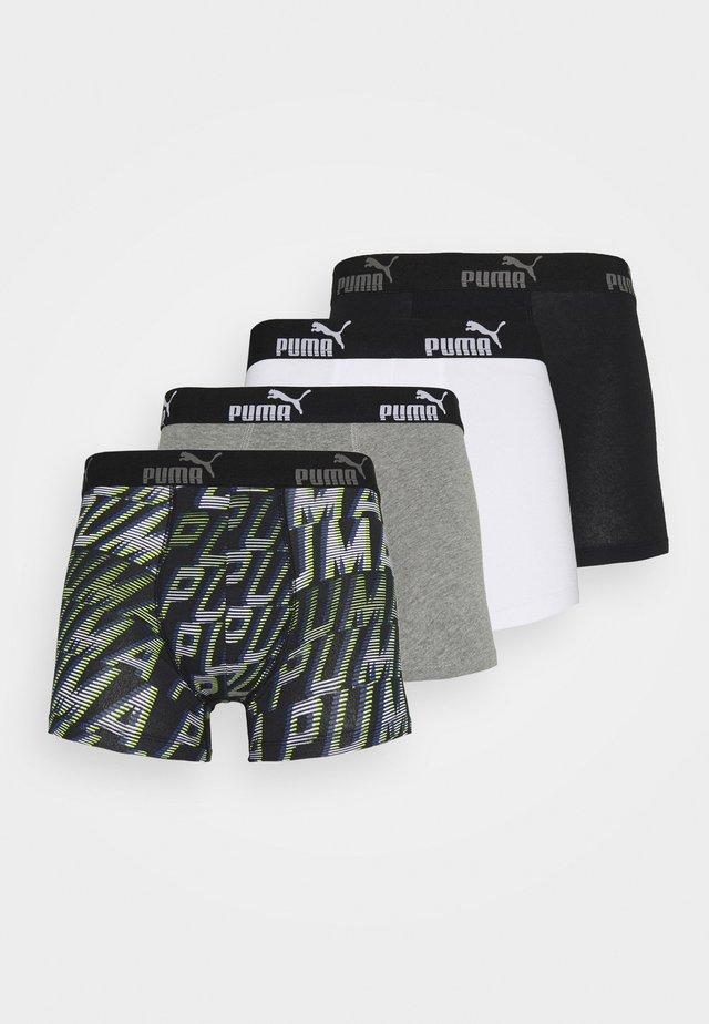 MEN PROMO BOXER 4 PACK - Pants - grey/black