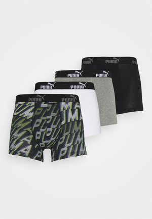 MEN PROMO BOXER 4 PACK - Panties - grey/black