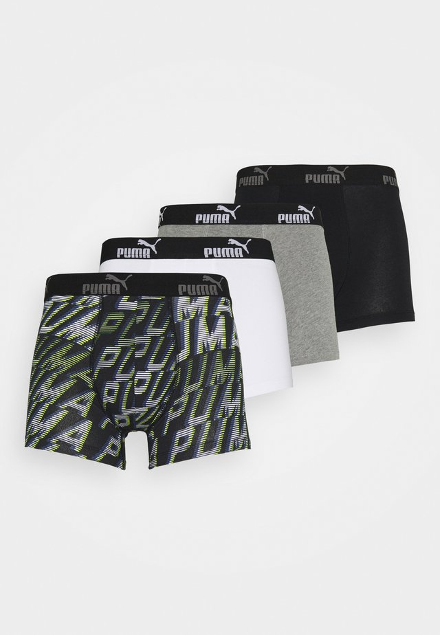 MEN PROMO BOXER 4 PACK - Shorty - grey/black