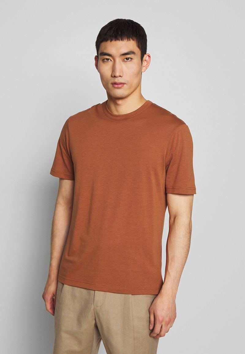 Joseph - CREW  - Jednoduché triko - rust