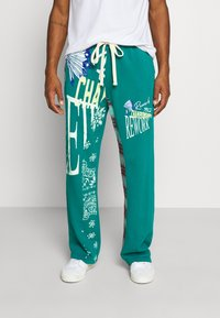 Jaded London - REWORK SCREEN PRINT - Pantalon de survêtement - green - 0