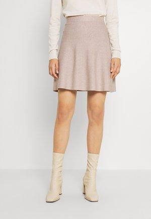 ONLLYNSIE SKIRT  - Mini skirt - beige