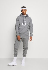 Under Armour - RIVAL MULTILOGO - Kapuzenpullover - pitch gray light heather - 1