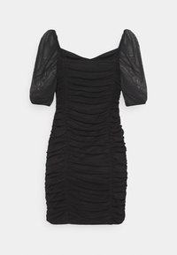Miss Selfridge - PUFF SLEEVE DRESS - Cocktail dress / Party dress - black - 1