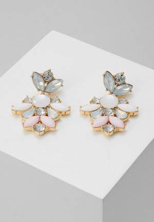 PCJARLO EARRINGS - Oorbellen - gold coloured/clear/pastel