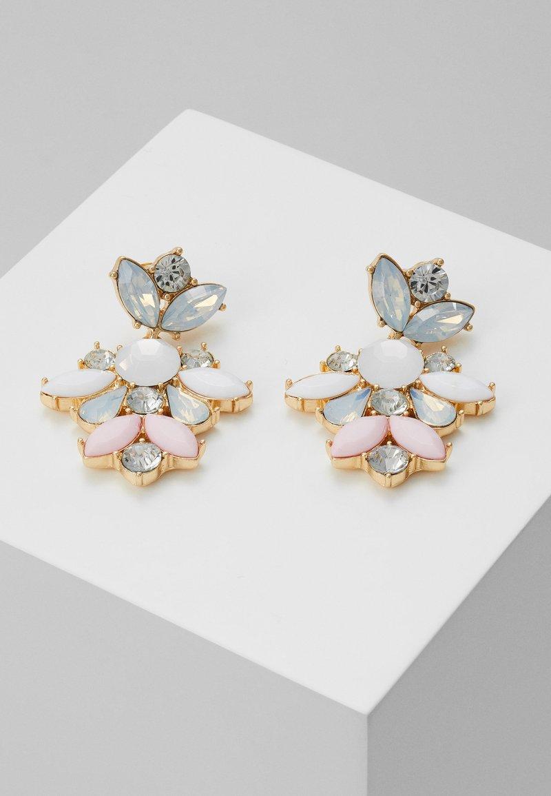 Pieces - PCJARLO EARRINGS - Earrings - gold coloured/clear/pastel