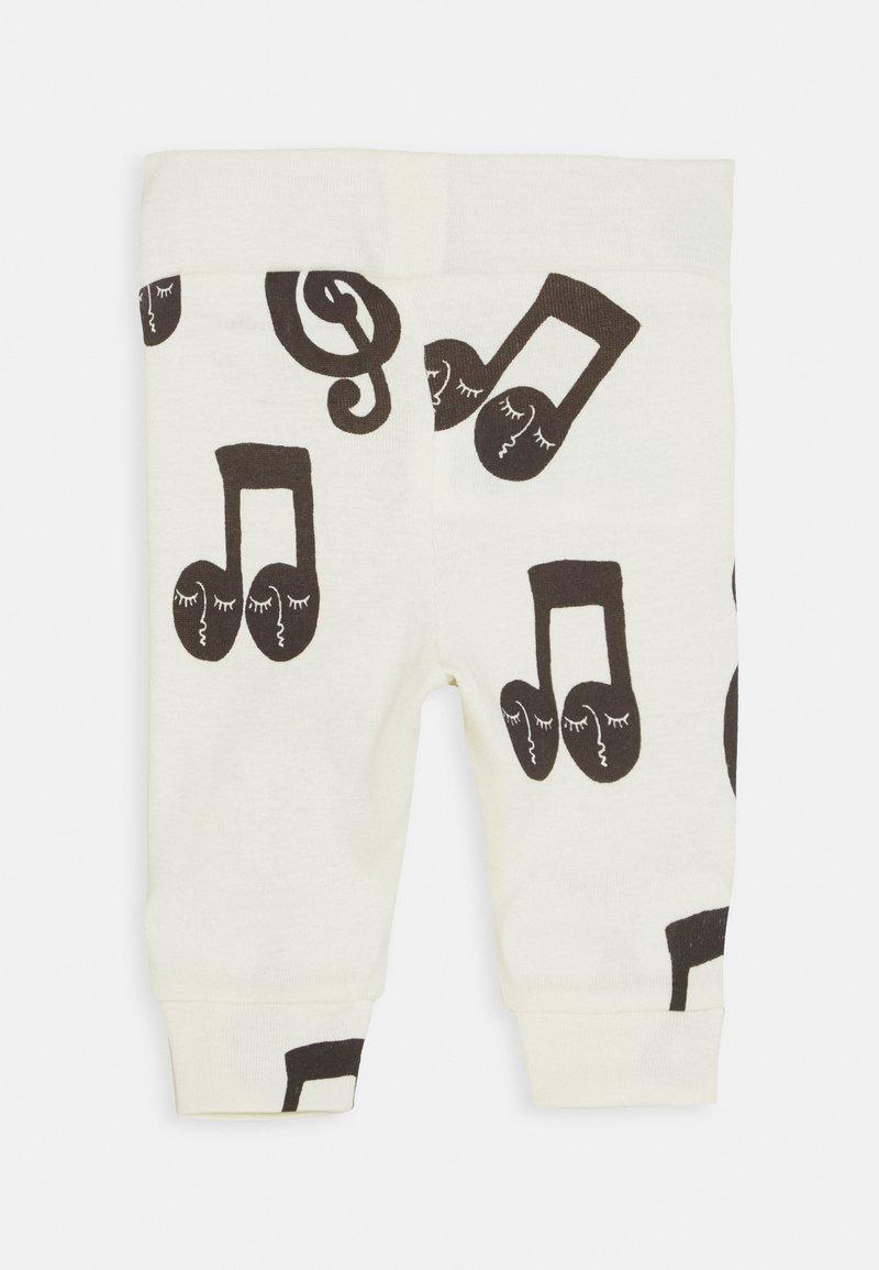 Mini Rodini - BABY NOTES UNISEX - Leggings - Trousers - offwhite