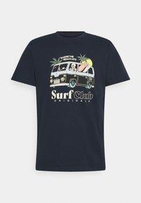 Jack & Jones - JORSUMMERSKULL TEE CREW NECK - Print T-shirt - navy blazer - 0