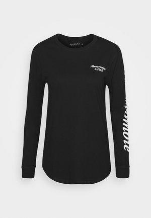 ITALIC LOGO TEE - Long sleeved top - black