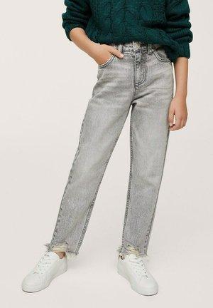Jeans a sigaretta - gris denim