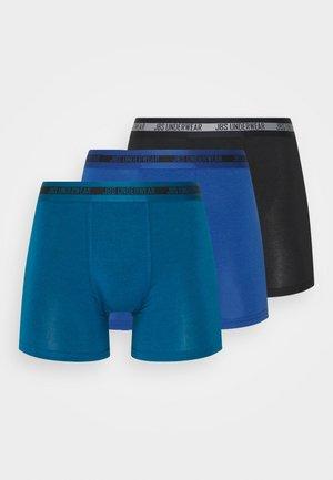 3 PACK - Pants - black/blue