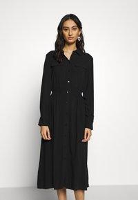 Moss Copenhagen - CADDY BEACH DRESS - Skjortekjole - black - 0