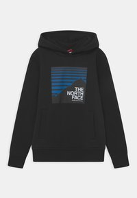The North Face - BOX HOODIE UNISEX - Jersey con capucha - black/hero blue - 0