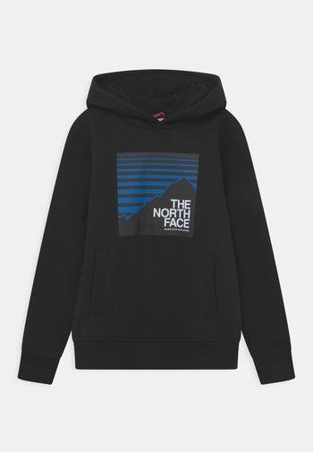 BOX HOODIE UNISEX - Sweatshirt - black/hero blue