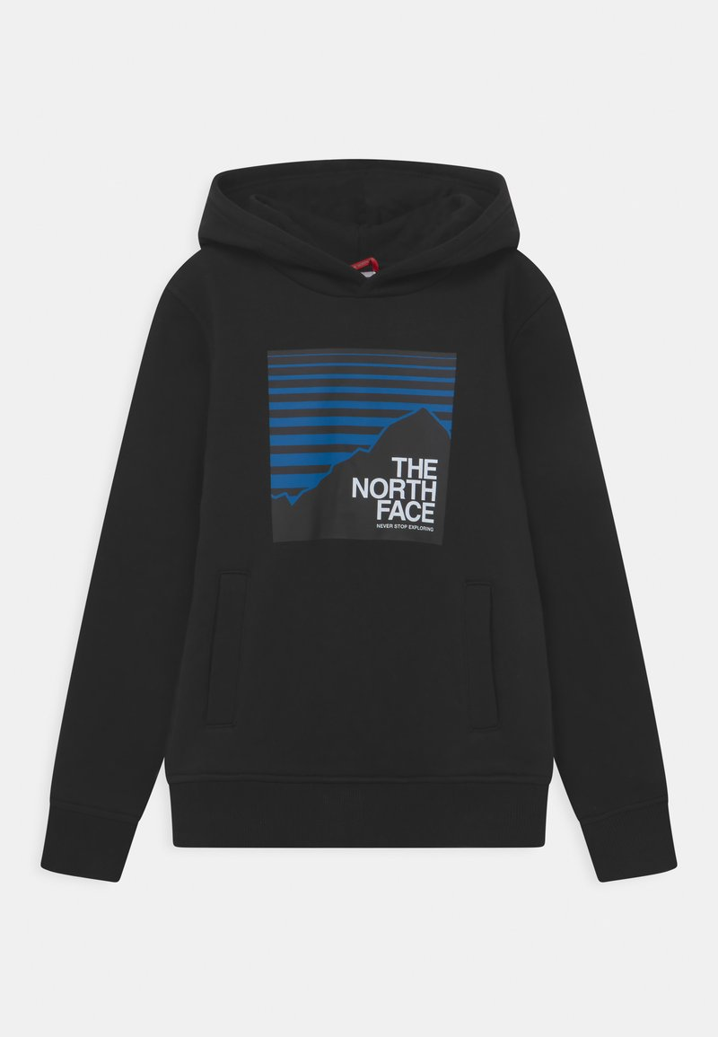 The North Face - BOX HOODIE UNISEX - Jersey con capucha - black/hero blue