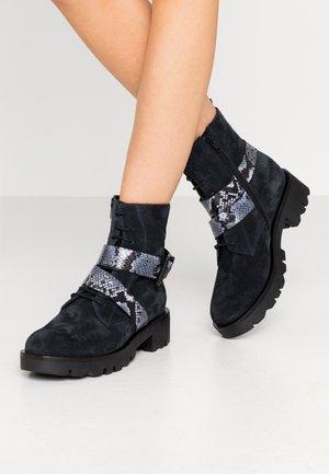 LOREN - Platform ankle boots - blu