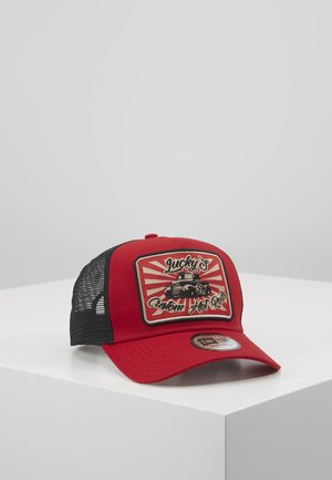 HOT ROD TRUCKER PACK - Kšiltovka - red/black