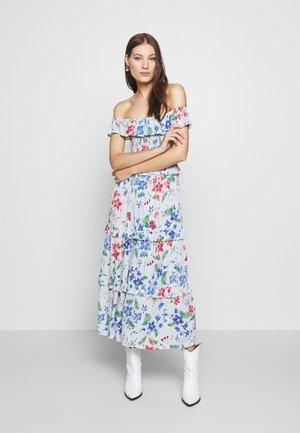 TIERED FRILL MIDAXI DRESS - Day dress - light grey